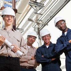 Mechanical Engineers on a job site