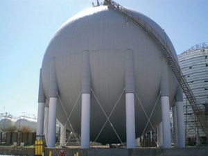 Shell Chemical Plant Storage Sphere