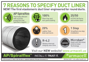 7 Reasons to Specify AP Spiralflex Duct Liner